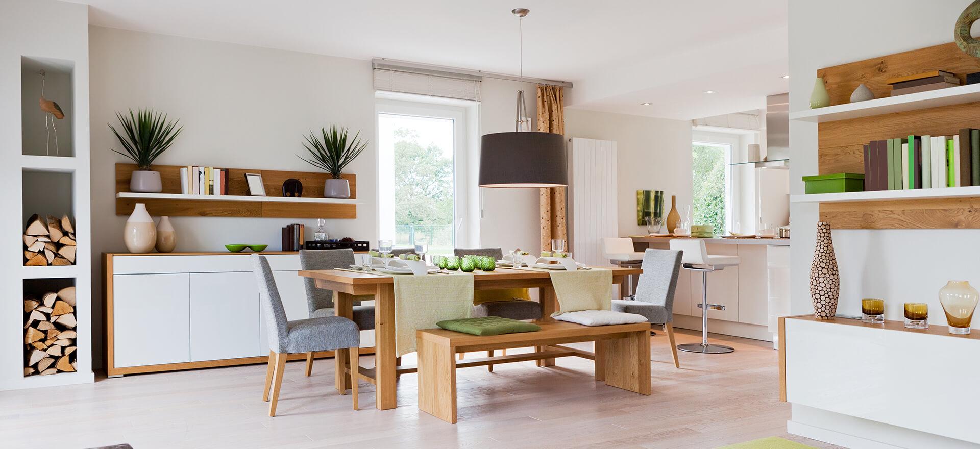 Wooden dinning room